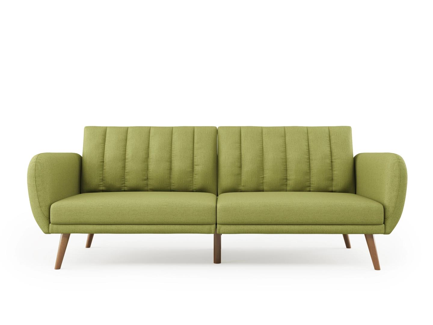 Product shot of a green sofa