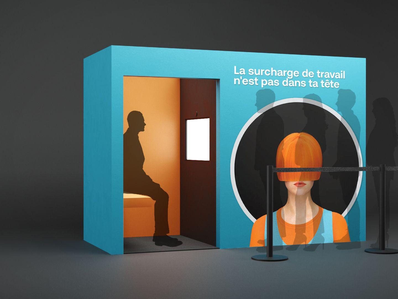 Un photobooth d'une application de réalité augmentée