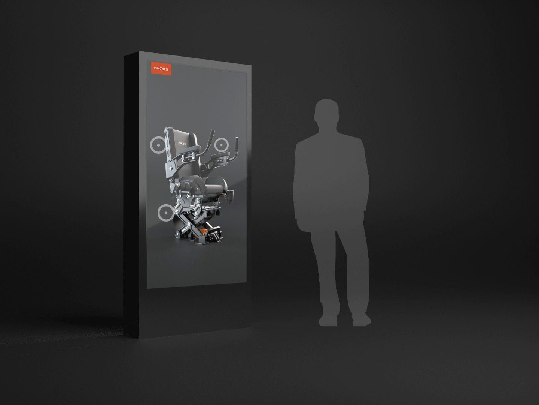 Interactive giant ipad for tradeshow
