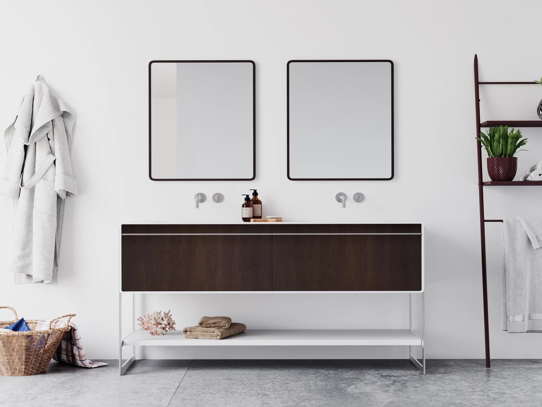 Image CG d'une vanité de salle de bain