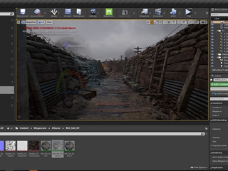 Screenshot of Unreal Engine
