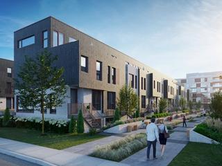Exterior promotional rendering for a Montreal real estate development