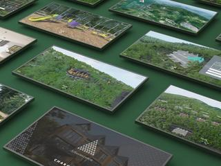 3D rendering images mosaic