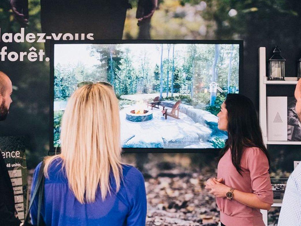 Real estate sales office interactive presentation