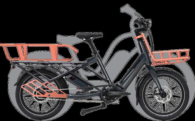 En Whee! plassert foran en populær sykkel av cruisertypen for å vise at den er kortere.