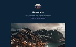 The blog starter for Gridsome