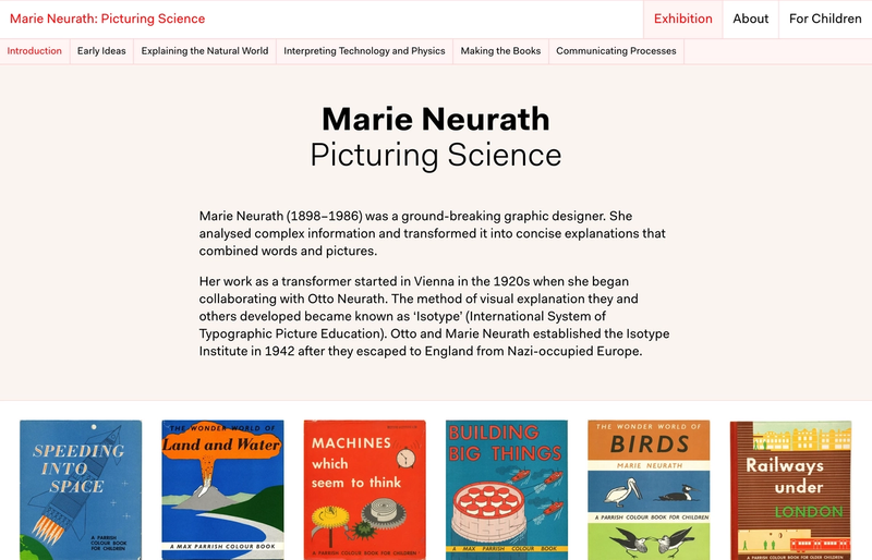 The frontpage for marieneurath.org