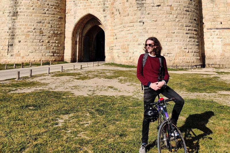 Felix on a bike