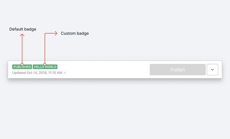 Screenshot of document badges in Sanity Studio