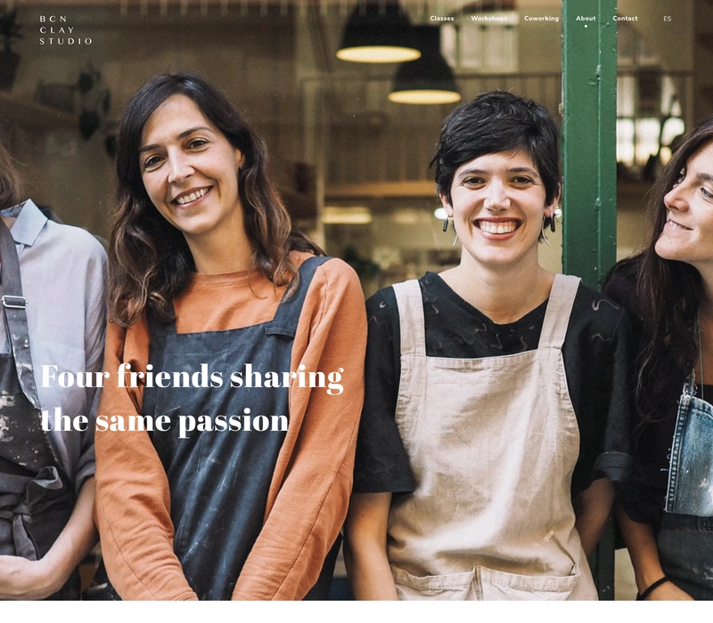 A page showing the four founders of BCN Clay Studio