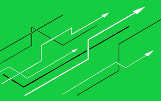 Arrows on a green background