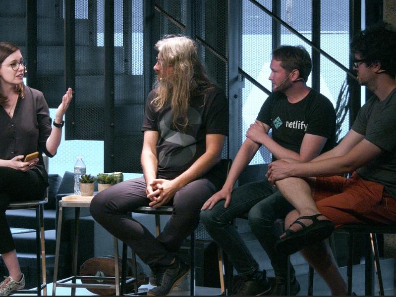 Frances Berriman, Simen Skogsrud, Matt Biilmann, and Kyle Mathews