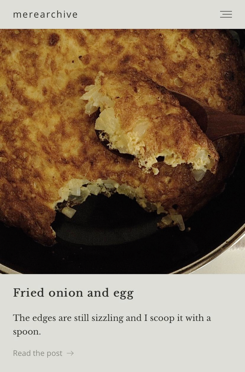 Fried onion and egg