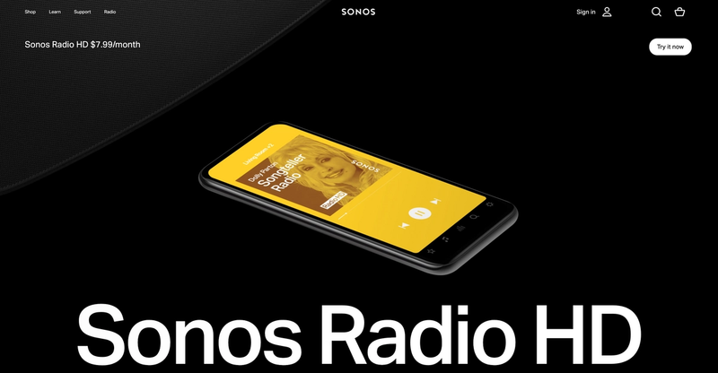 Cover page for Sonos Radio HD