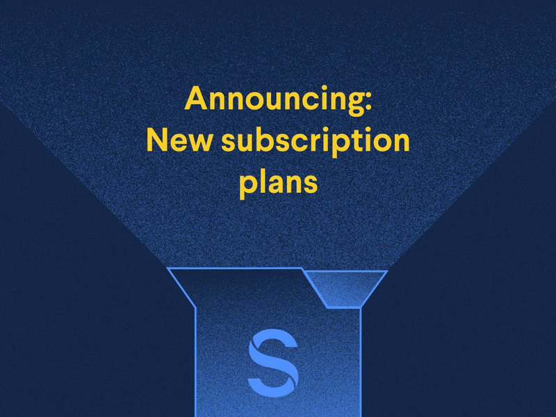 Announcing: New subscription plans