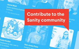 Contribute to the Sanity community