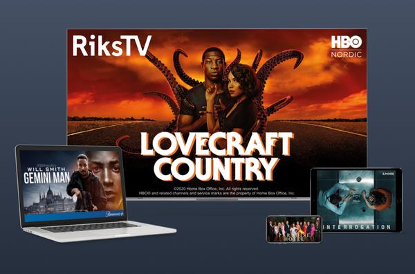 RiksTV Screen Displays Movies