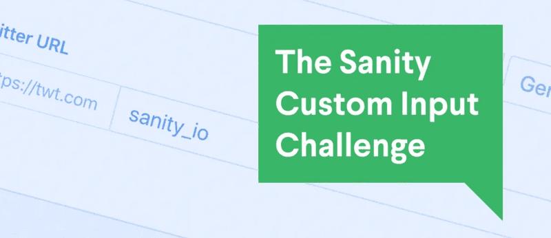 The Sanity Custom Input Challenge
