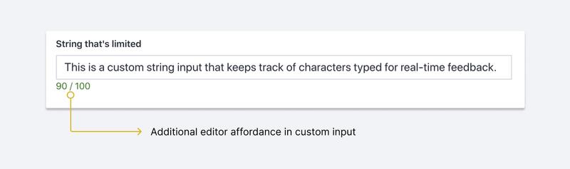 A sample custom string input