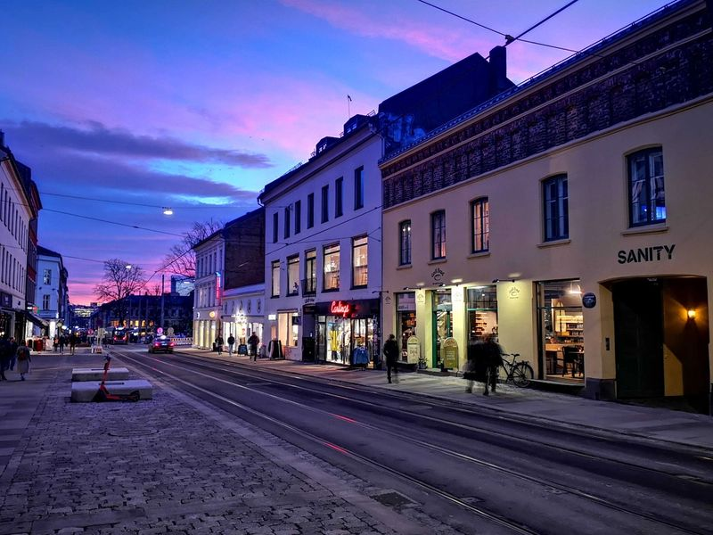 A winter afternoon outside our HQ i Oslo (where is the snow?)