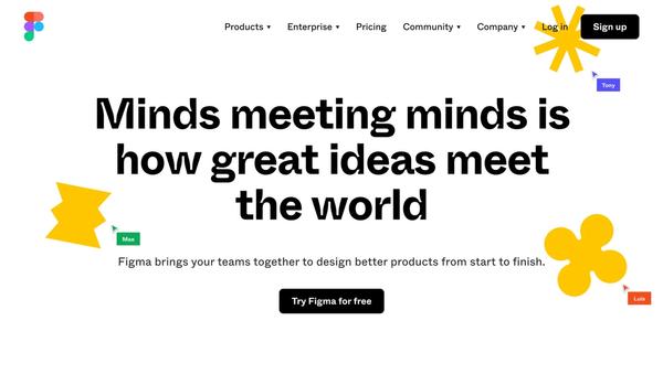 Figma home page