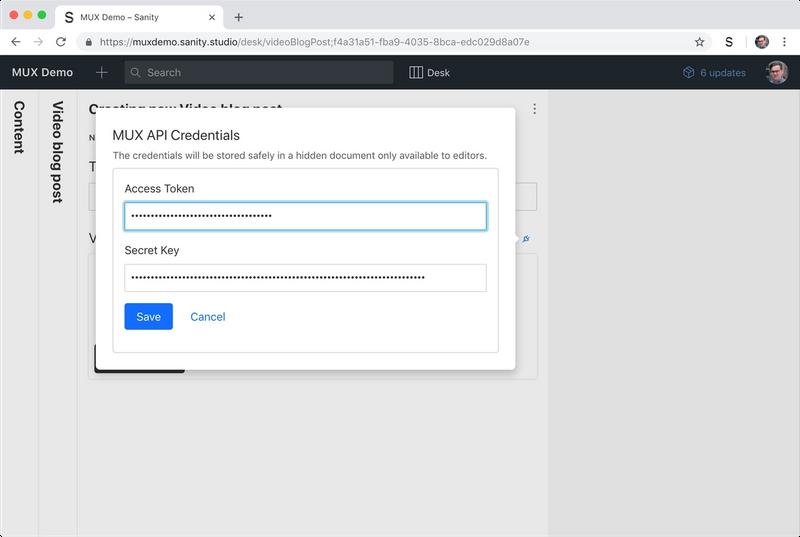 Mux API Credentials