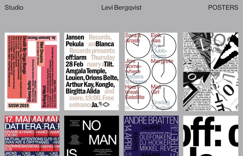 The poster page on Levi Bergqvist's portfolio