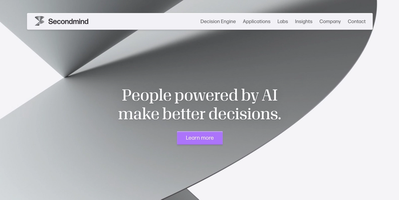 main page for secondmind.ai