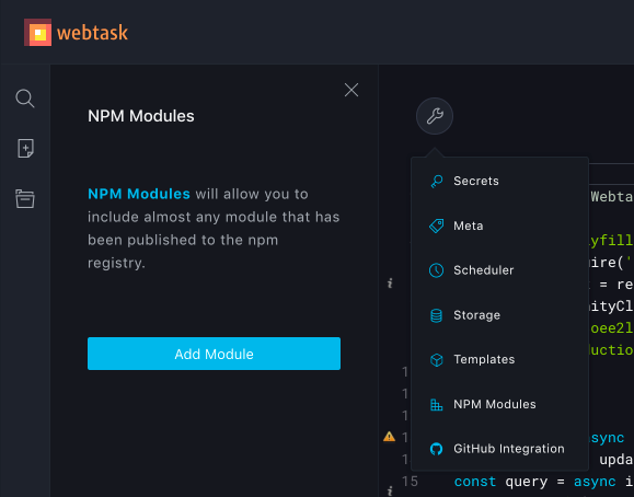 Make sure that npm modules are installed.
