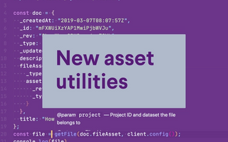 New asset utilities library for Sanity.io