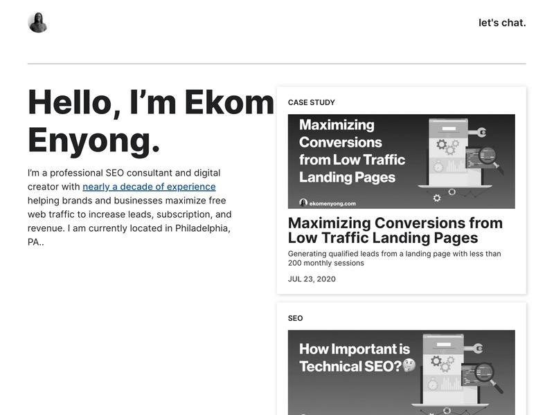 Ekom Enyong's frontpage