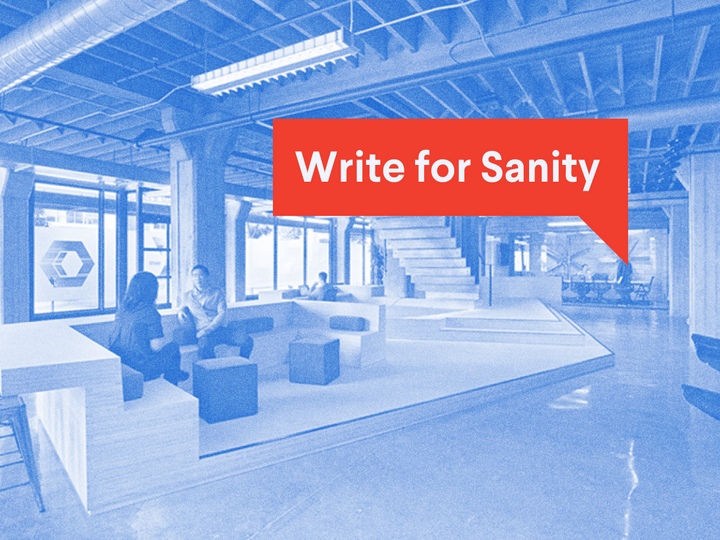 Write for Sanity