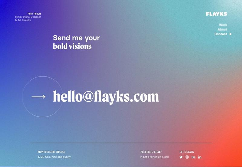 Contact page for flayks.com