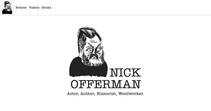 Homepage of nickofferman.co
