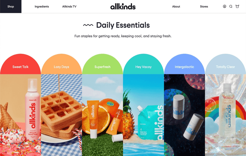 allkinds Daily Essentials page