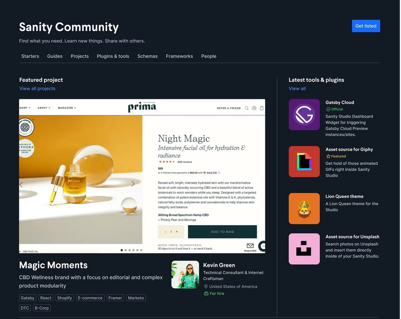 Community Studio home page