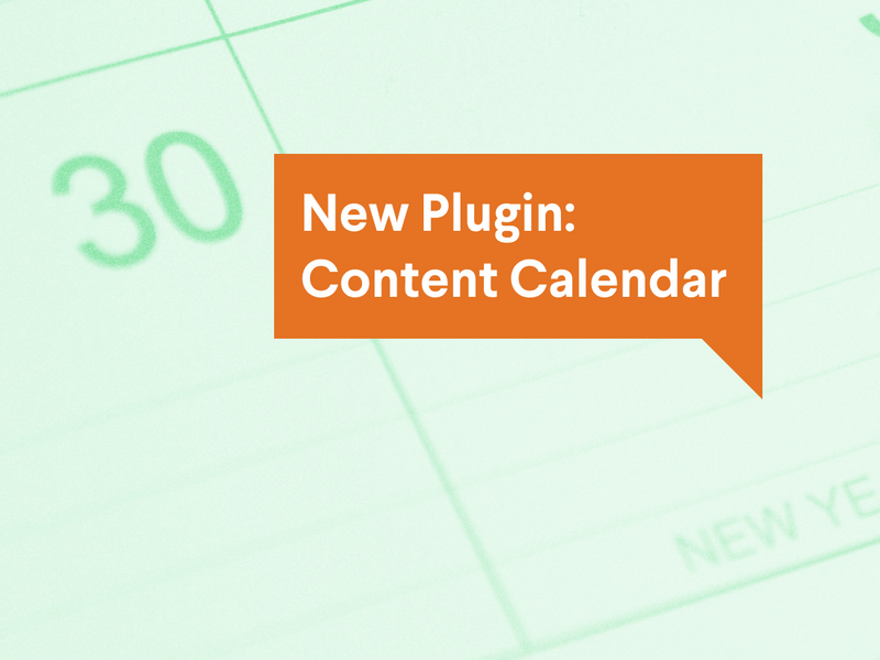 A poster image of the post title overlaid on a bright image of the calendar pliugin