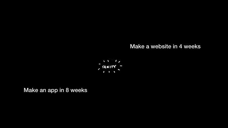 Maken an app in 8 weeks. Make a website in 4 weeks