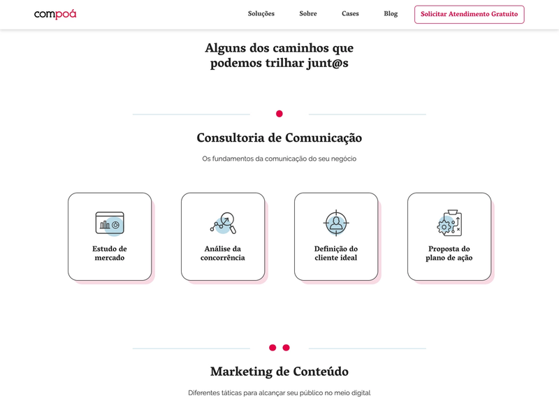 The Compoá frontpage
