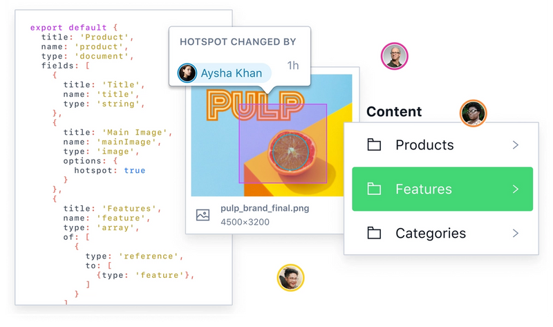 Illustration of building structured content from code