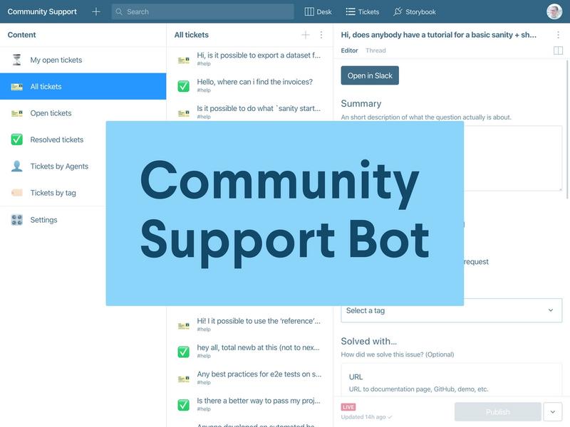 Sanity's Community Support Bot