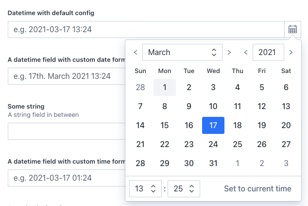The new datetime input field for Sanity Studio