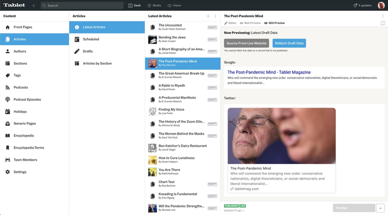 Social and Search previews