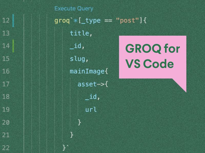GROQ for VS Code