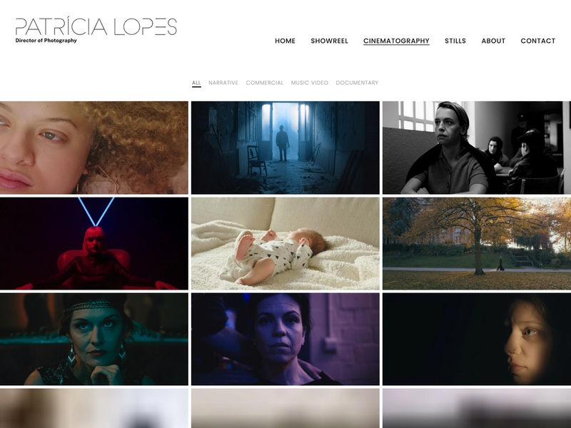 Patricia Lopes' cinematography page