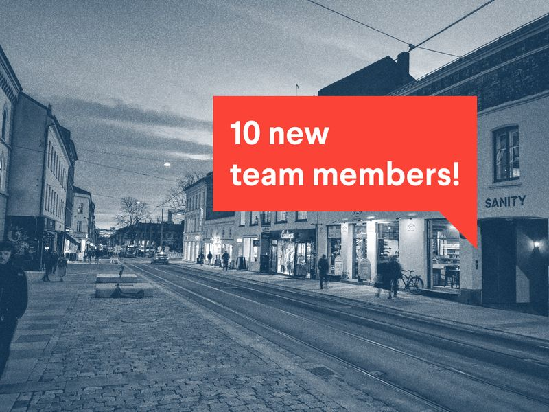 poster text: 10 new team members!