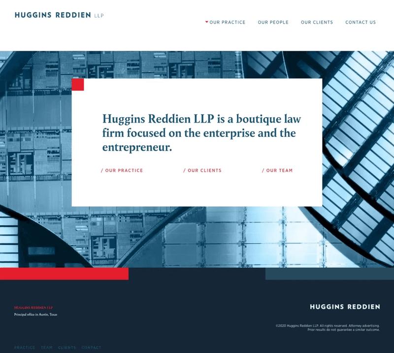 Huggins Reddien LLP home page