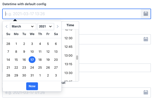 The old datetime input field for Sanity Studio