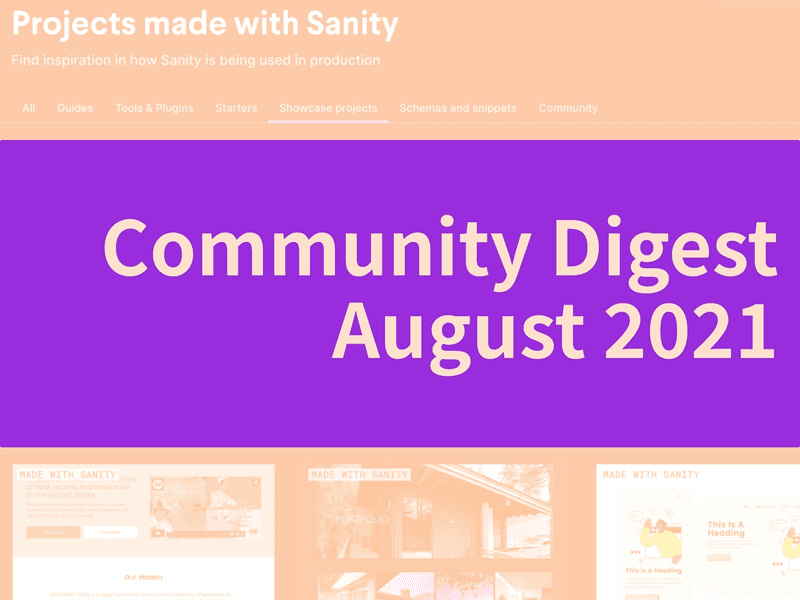 Community Digest August 2021