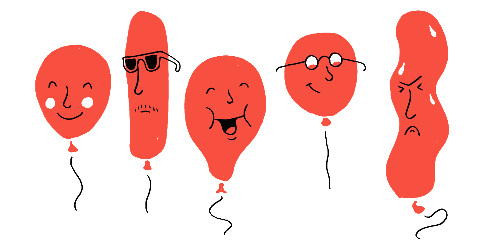 Balloons on a party